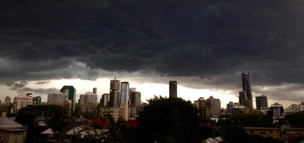 Storms over Brisbane from my grandma's roof.